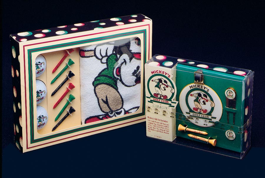 Disney golf accessories packaging design